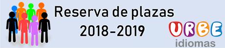Reserva de plazas 2018-2019